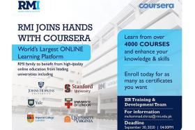 RMI Joins Hands with Coursera